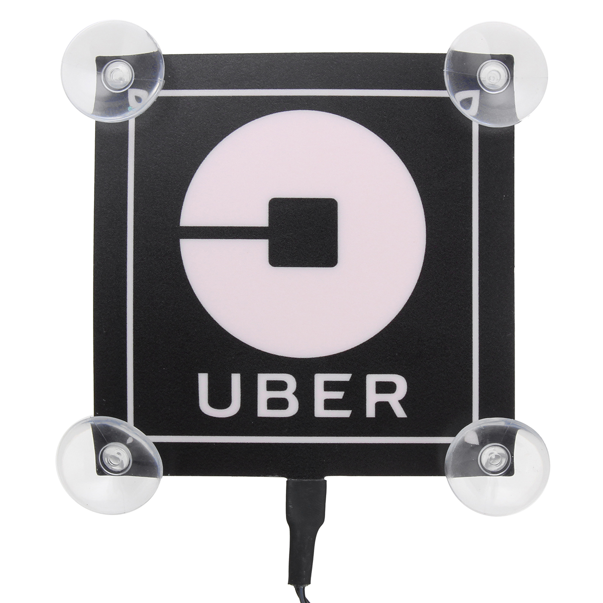 5V Uber LED Service Lamp Car Sign Logo Sticker USB Flashing Decoration Lights Blue