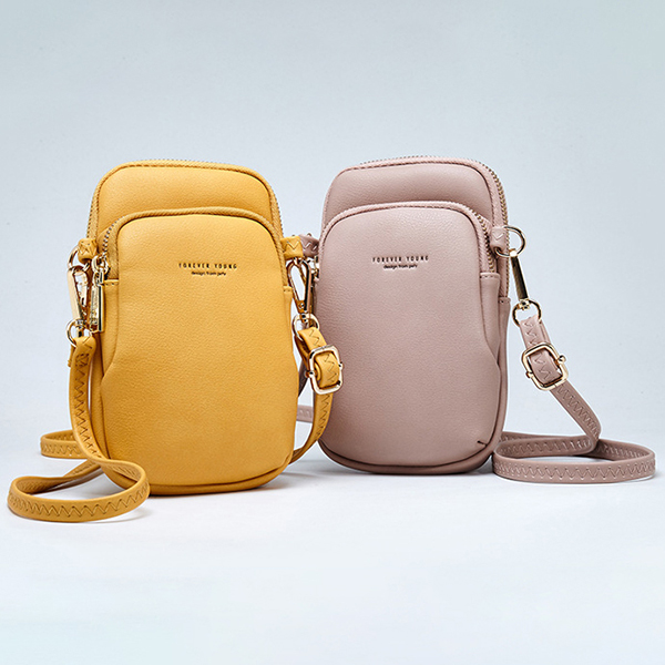 Pierreloues Women Casual Crossbody Bag Solid Phone Bag