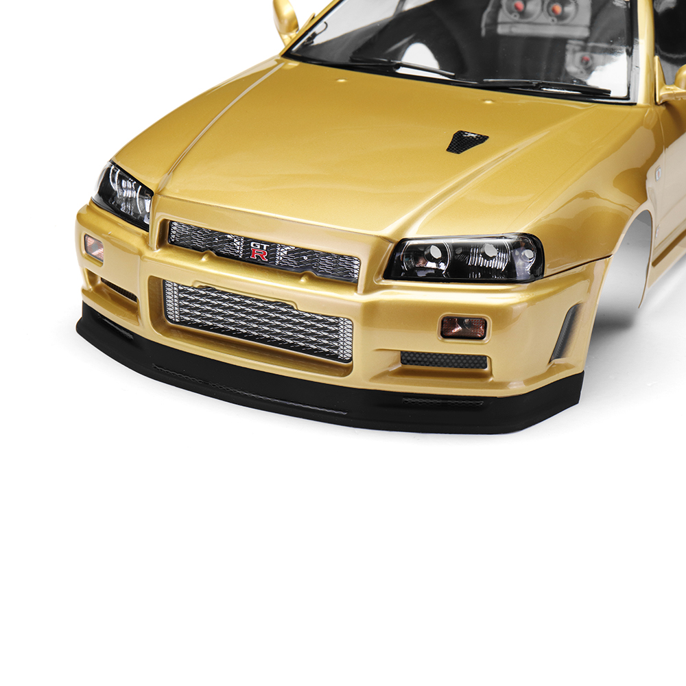Killerbody 48645 NISSAN SKYLINE (R34) Finished Body Shell Champaign-gold for 1/10 Touring Car - Photo: 8