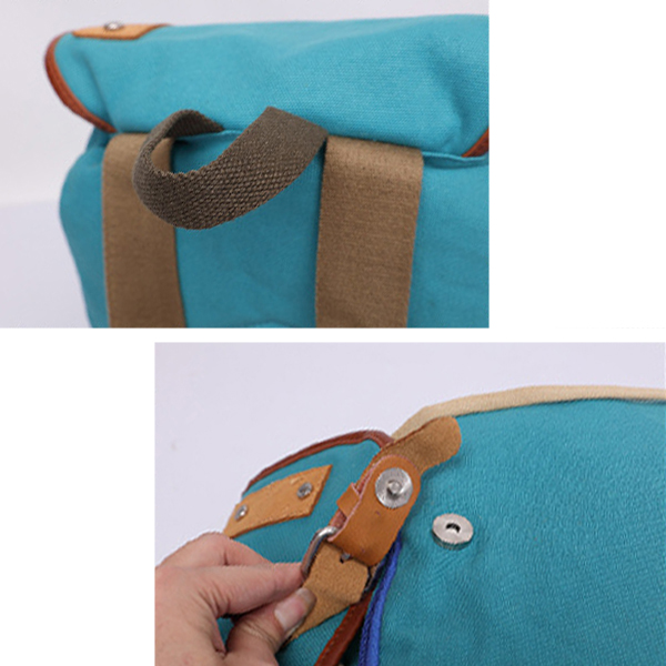 Women Men Canvas Durable Vintage Backpack Casual Large Capacity Backpack