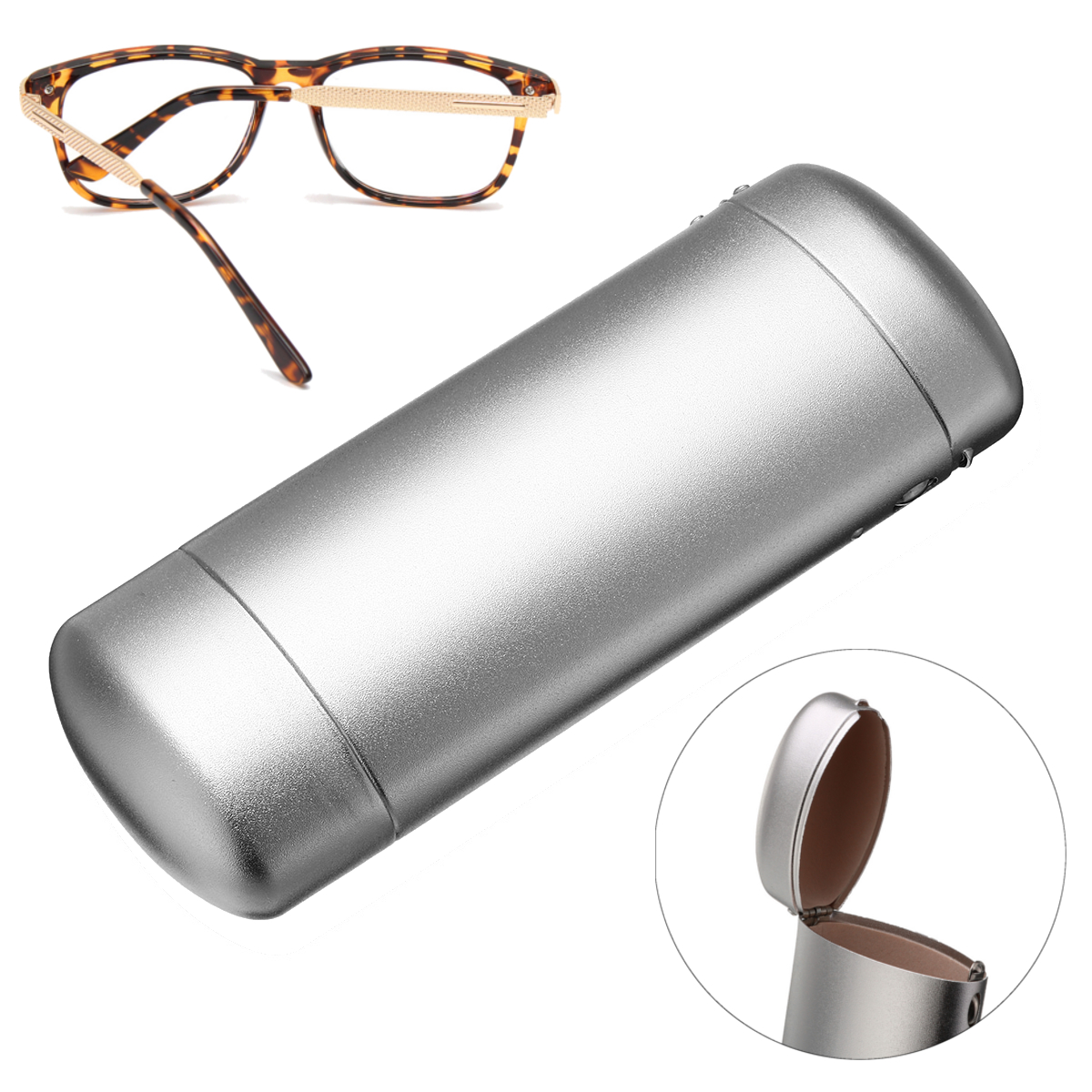 Hard Baskets Metal Glossy Glasses Spectacle Case Box Storage Eyeglasses Case Protector