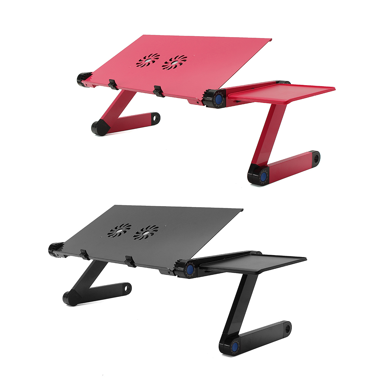 Aluminum Alloy 360 Degree Adjustable Folding Computer Laptop Desk with Cooling Fans