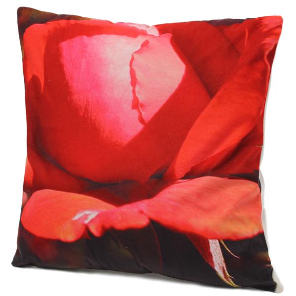 Colorful 3D Flower Series Short Plush Throw Pillow Case Home Sofa Car Cushion Cover