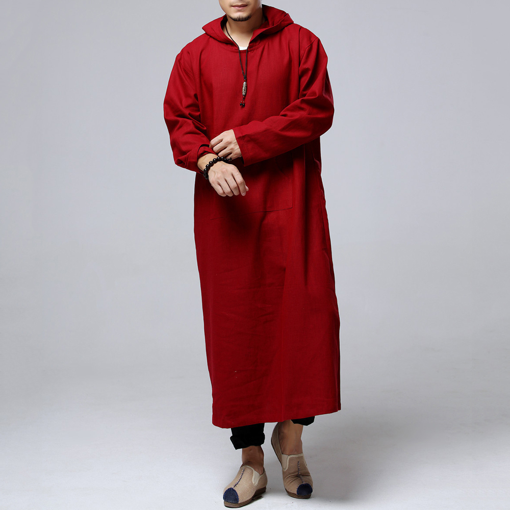 Mens Vintage Loose Hooded Coats