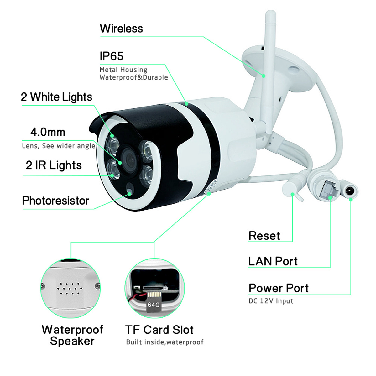 1080P 2MP WiFi Home Security IP Camera Motion Detection Night Vision For Alexa Echo