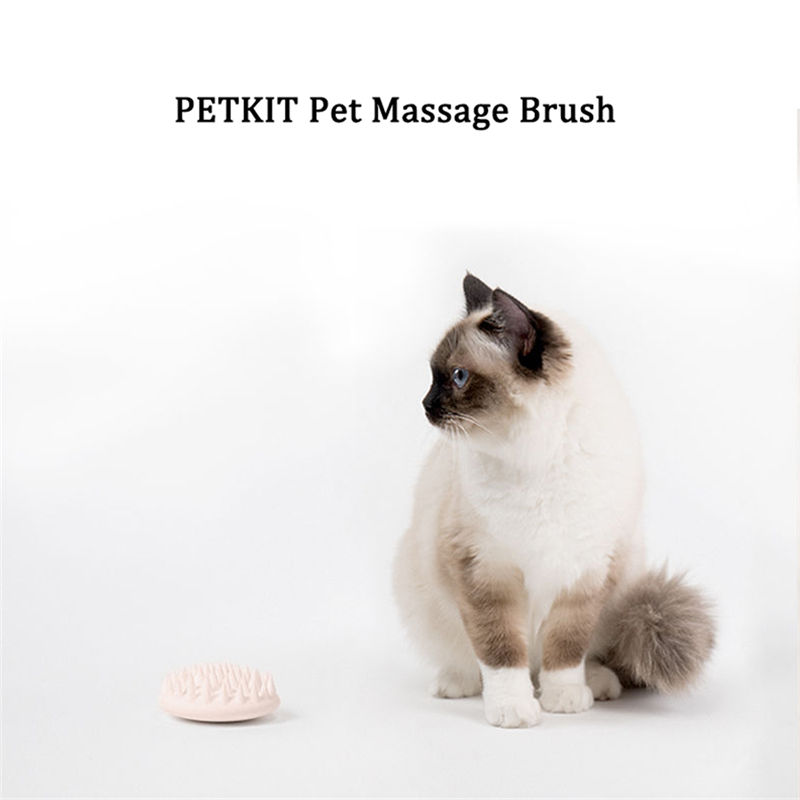 PETKIT Pet Cat Grooming Massage Device Brush from Xiaomi Youpin Comb Silicon with Soft Rubber Bristles Tool Hair Removal Brush Comb for Dogs Cat