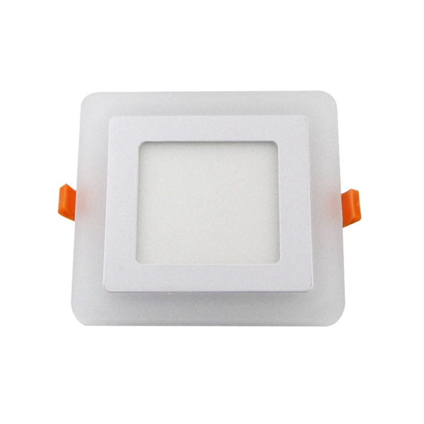 6W 9W Square LED Panel Ceiling Light Dual Color Recessed Downlight AC85-265V
