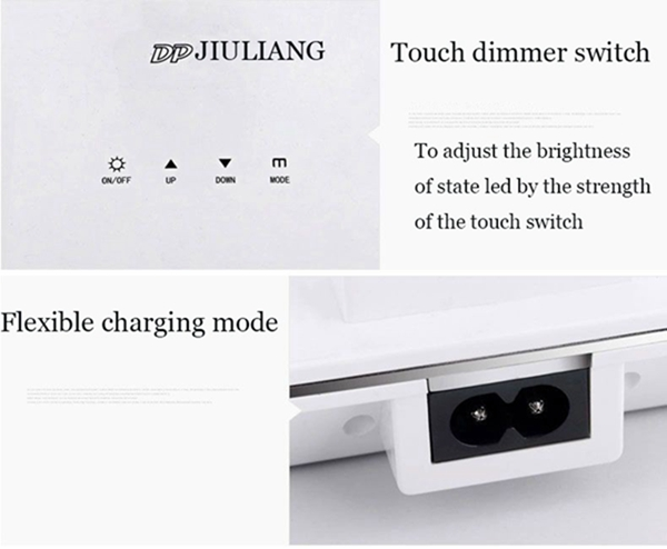 5W Foldable Touch Dimmer 48 LED Desk Lamp Rechargeable Eye Protection Reading Light