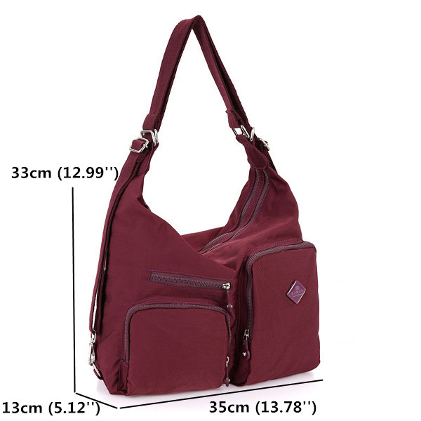 Women Nylon Light Shoulder Bags Travel Crossbody Bags Multifunction Backpack