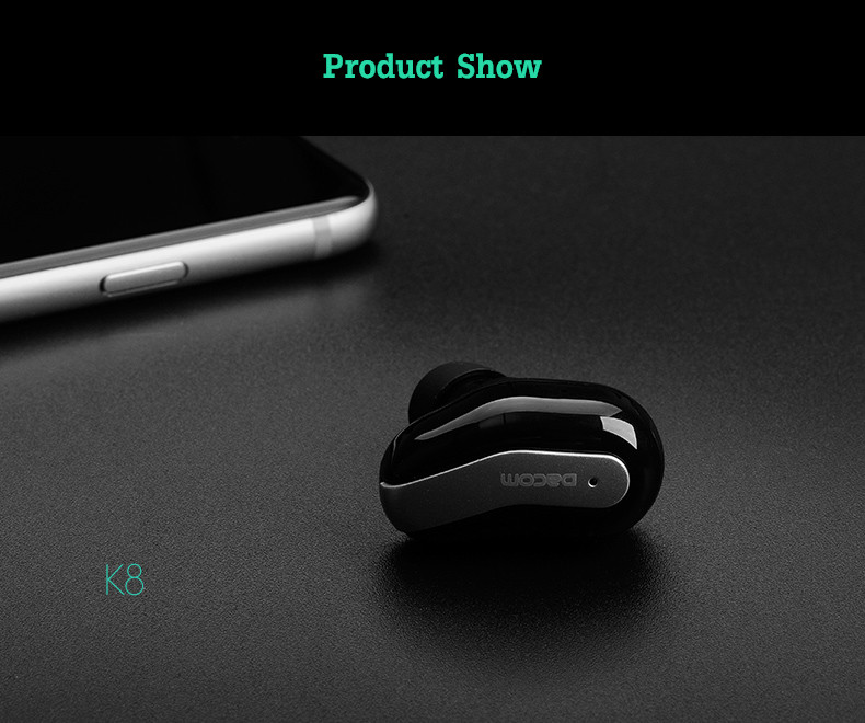 DACOM K8 Super Mini Light Weight Stealth Wireless bluetooth Earphone Headphone
