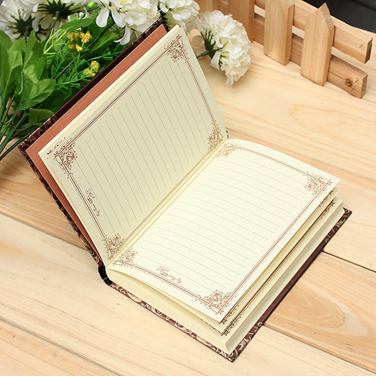 1Pcs Retro Vintage Journal Diary Notebook Blank Hard Cover Sketchbook Paper Travel Journal Notebook