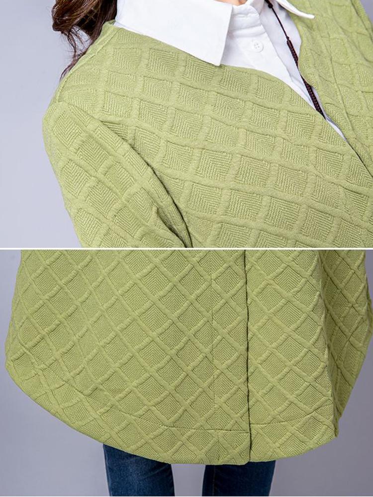 Ethnic Women Vintage Cotton Linen Plaid Cardigans