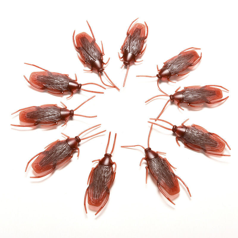 20pcs Prank Funny Trick Joke Toys Special Lifelike Model Simulation Fake Rubber Cockroach Cock Roach