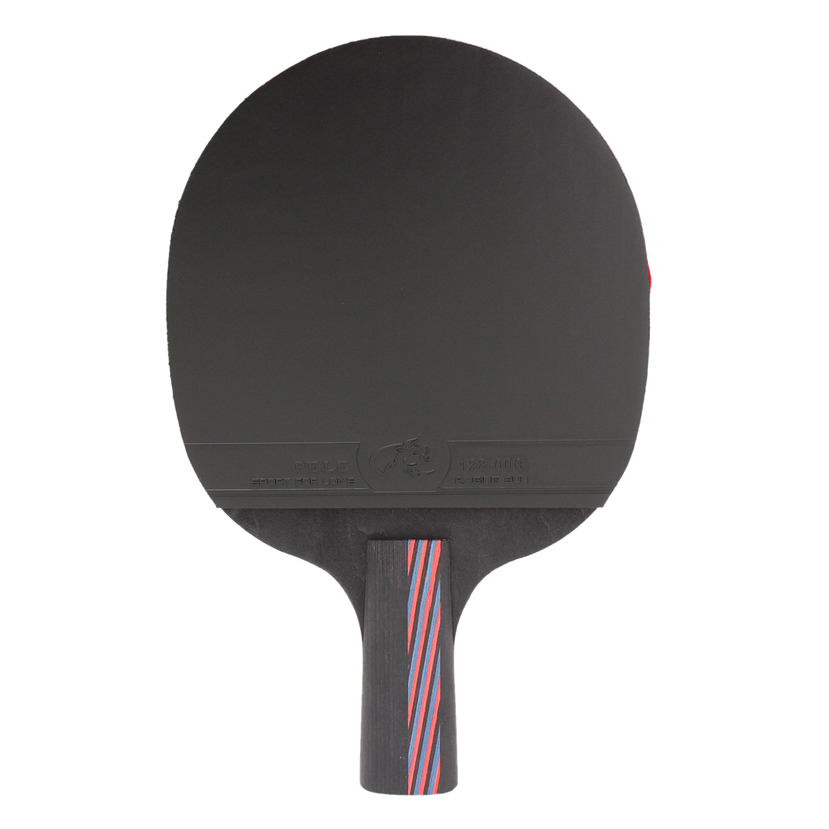 Carbon Fiber Double Sided Ping Pong Table Tennis Racket Rubber Paddle Bat Long Short Handle