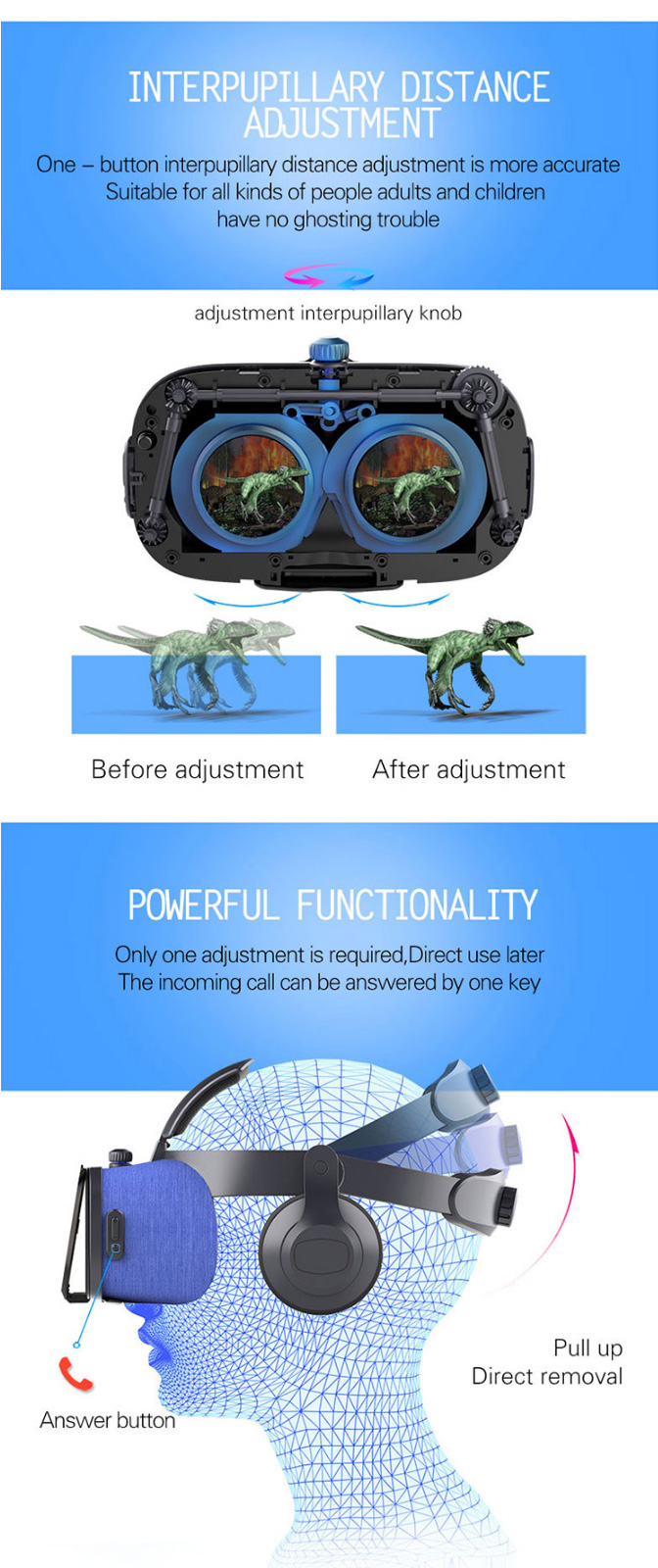 FIITVR 6F 112 FOV Virtual Reality 3D VR Glasses Box with Headset Support 4.7-6.0 Inch Phone