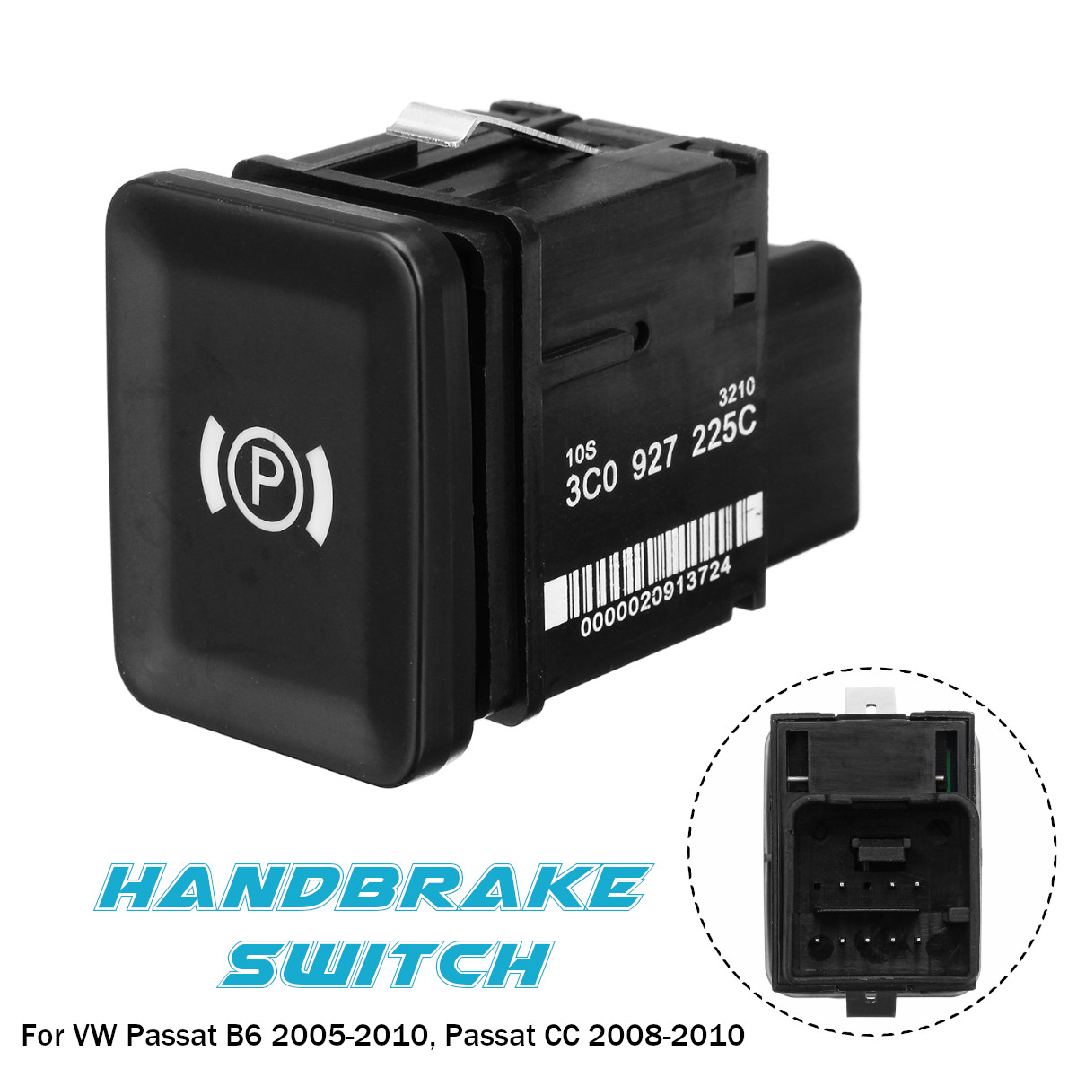 Electronic Handbrake Brake Parking Car Switch 3C0927225C for VW Passat B6 C6 CC