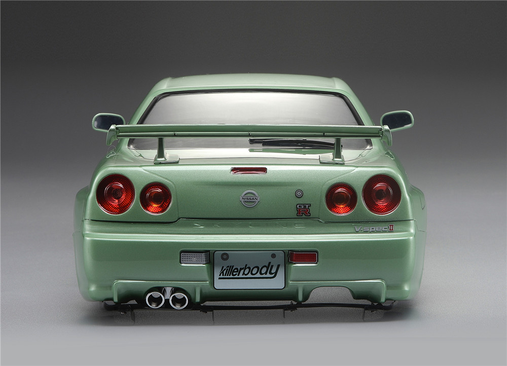 Killerbody 48645 NISSAN SKYLINE (R34) Finished Body Shell Champaign-gold for 1/10 Touring Car - Photo: 13