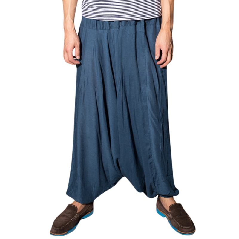 Ethnic Style Cotton Thin Wide Leg Pants