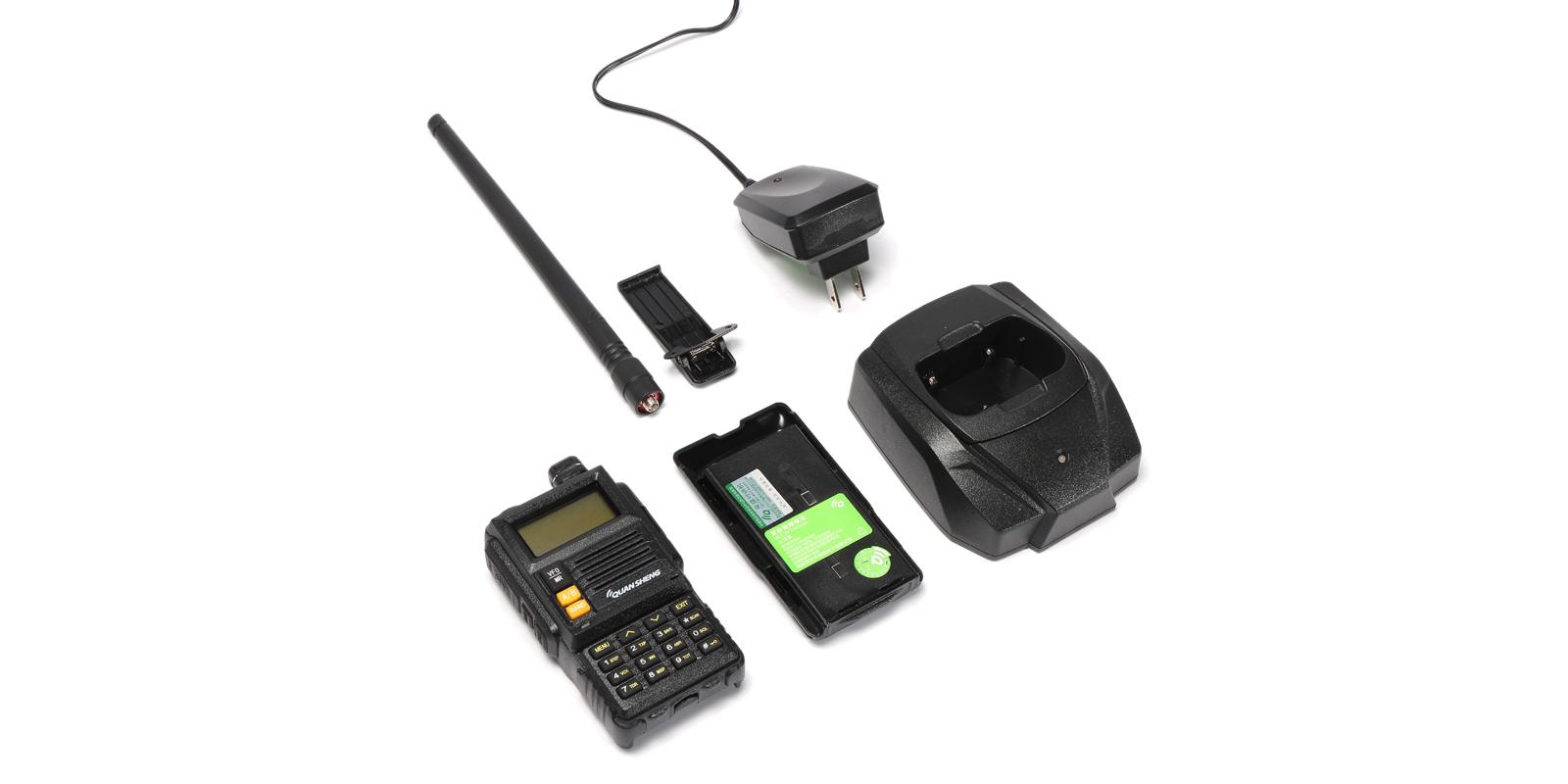 QUANSHENG TG-K4ATUV 128 Channels Mini Two Way Dual Band 400~480MHz Handheld Radio Walkie Talkie