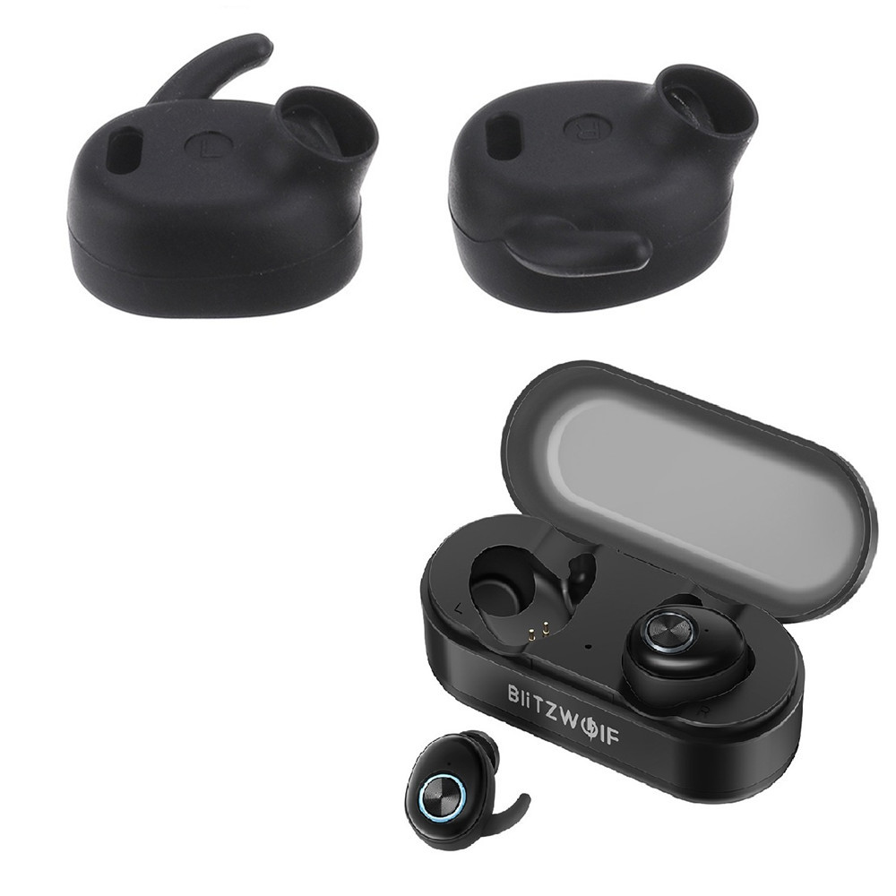 Original Blitzwolf BW-FYE2 Earphone Eartips Pairs of Earbud Tip Earplugs Earmuffs Silicone for Earphone Headphone