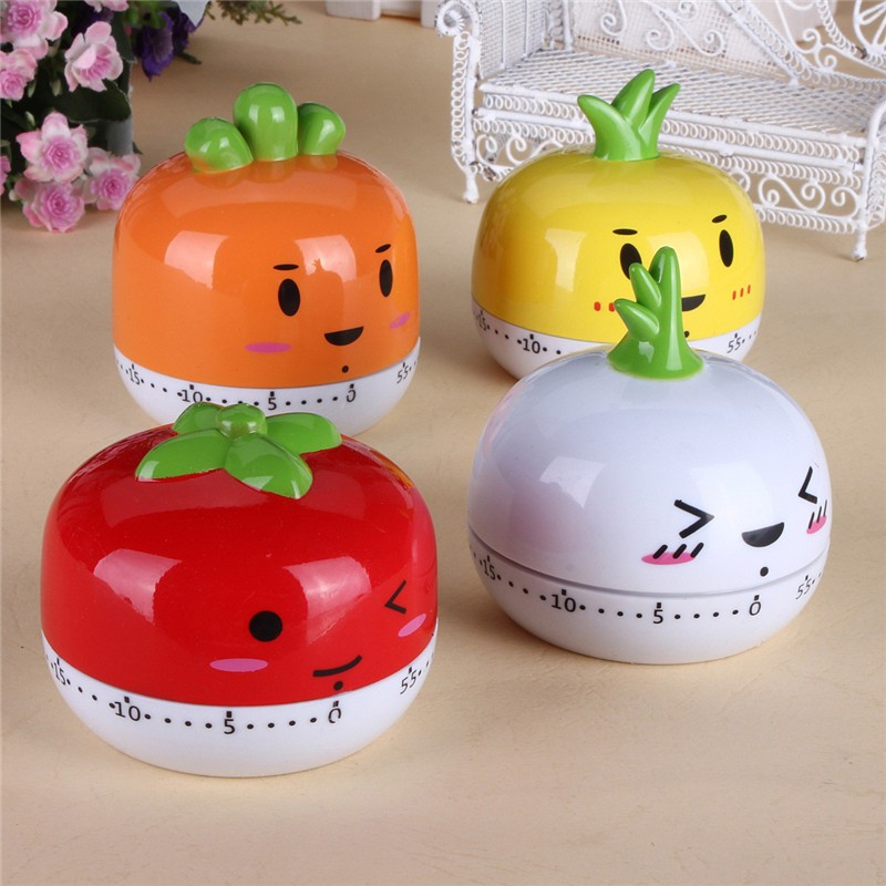 Sweet Cartoon Animal style Kitchen Cooking Timer 60 Minutes Bake Clock Alarm