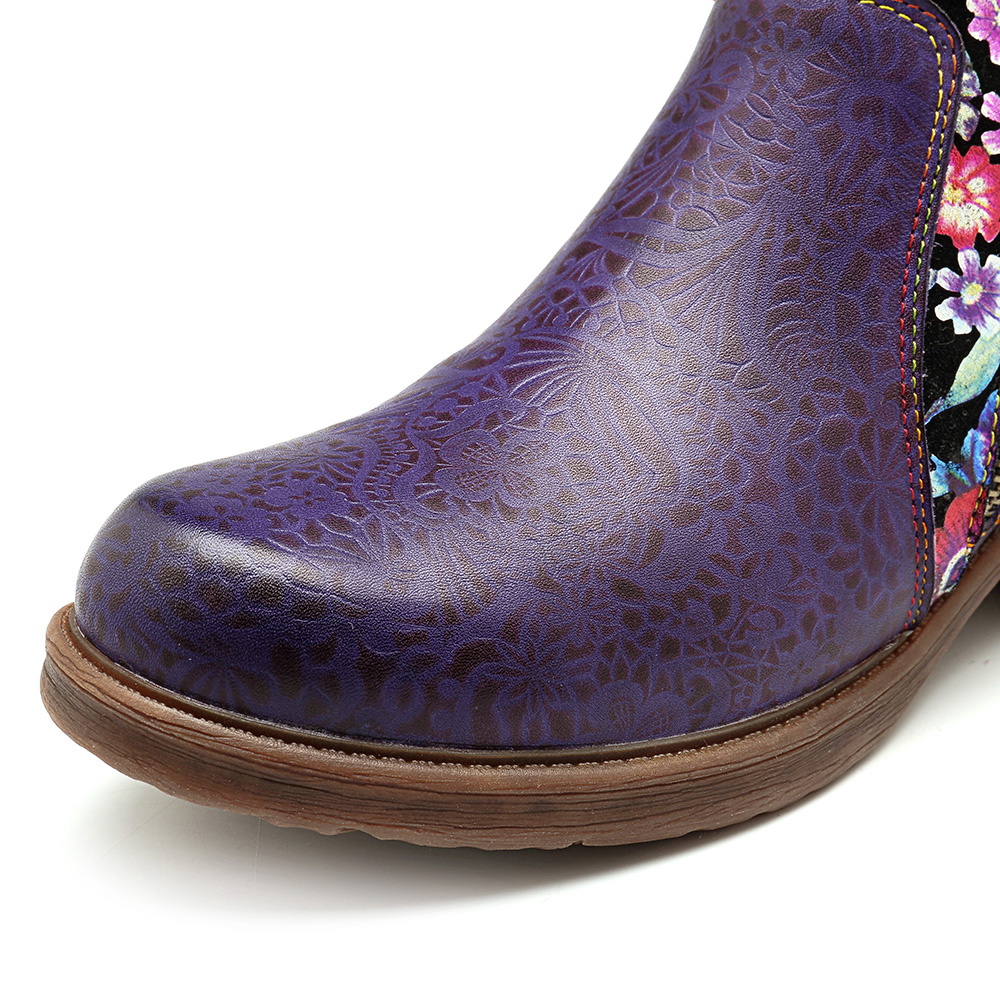 SOCOFY Women Genuine Leather Boots