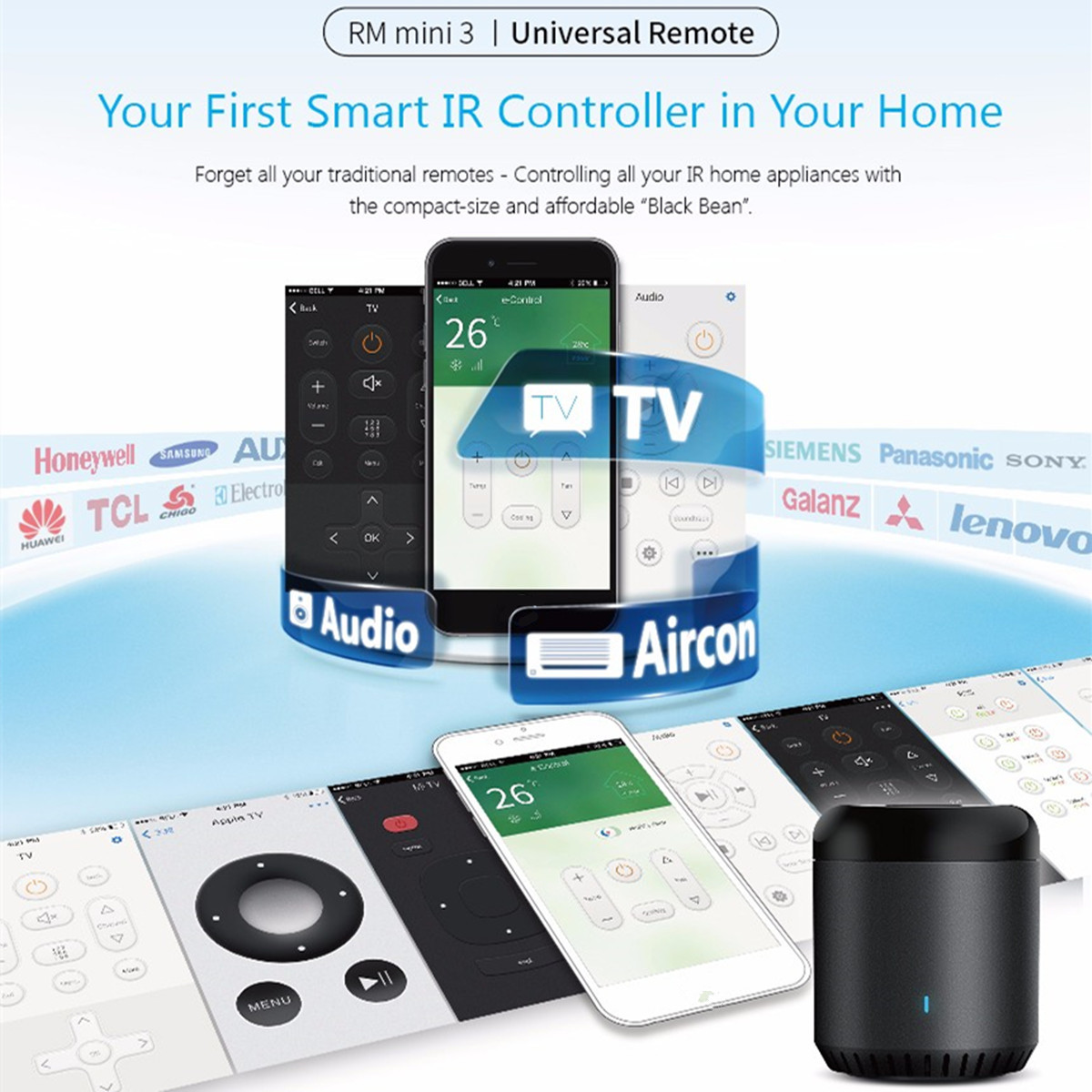 RM Mini3 Universal Remote WiFi IR Smart Home Automation APP Wireless Controller for IOS Android