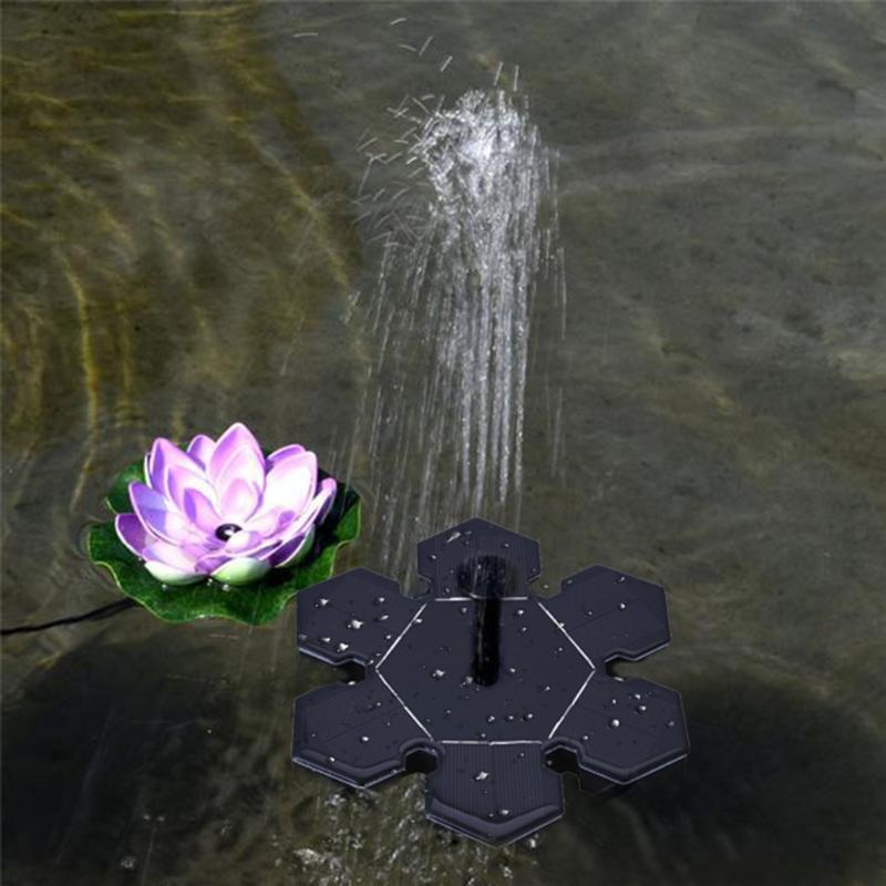 6V Floating Water Pump Solar Panel Pool Garden Pond Plants Watering Power Fountain Submersible Watering Pumps for Plants Circulating Oxygen Watering Display