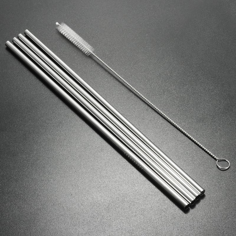 4Pcs 30oz Stainless Steel Straws Yeti Tumbler Rambler Accessories with Cleaning Brush
