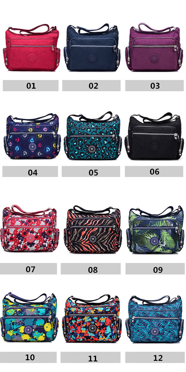 Light Weight Women Nylon Waterproof Crossbody Bags Casual Outdooors Travel Shoulderbags Messenger Bags