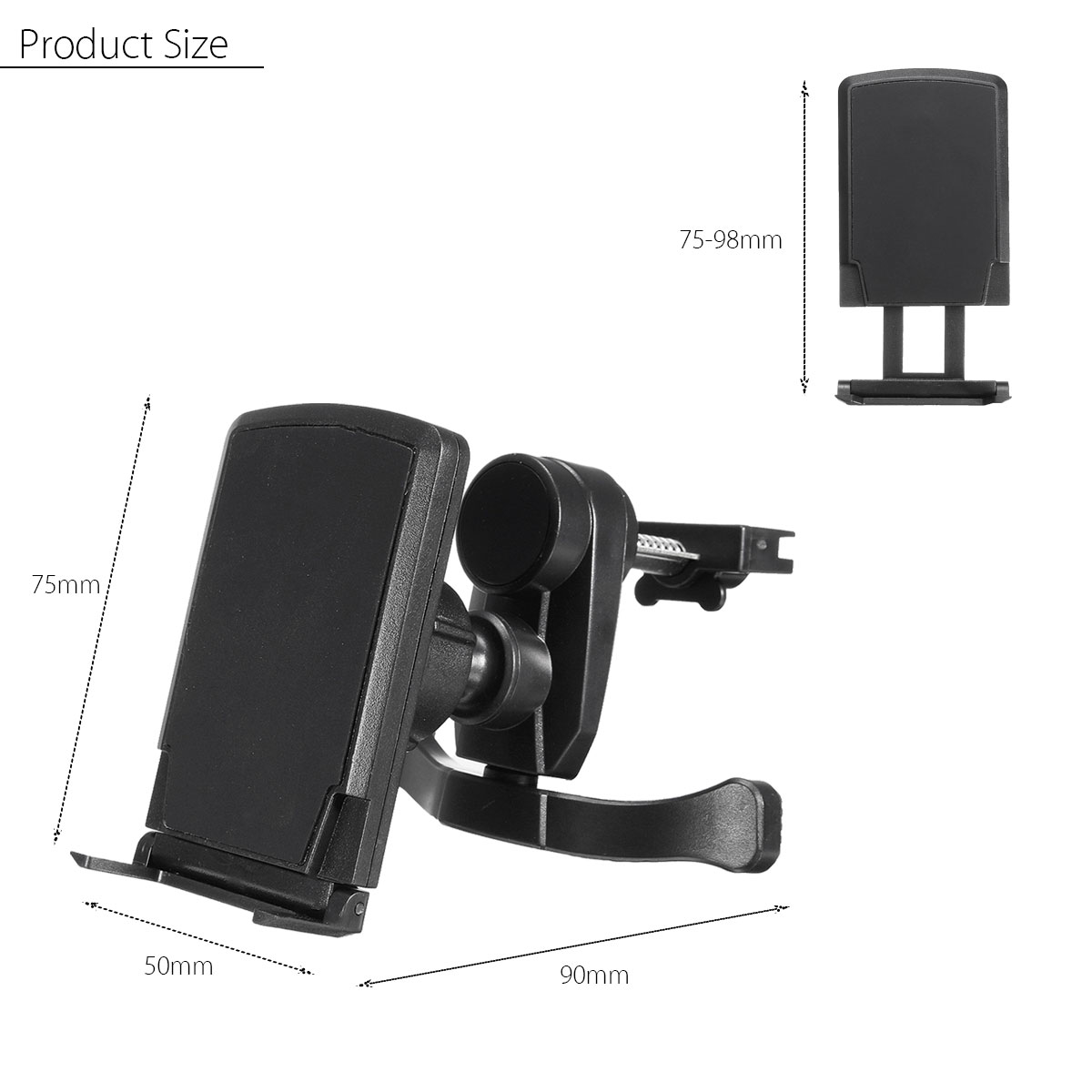 Magnetic Phone Stand 360 Degree Rotation Car Air Vent Mount Phone Holder for Samsung Xiaomi Huawei