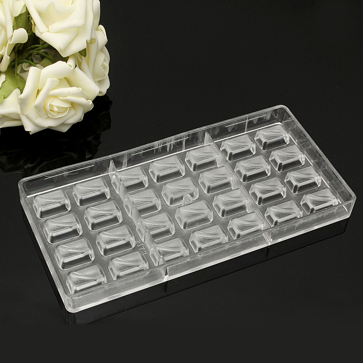 Rectangular Plastic Boxes DIY Chocolate Soap Cake Mold Candy Cookie Pudding Craft Tools
