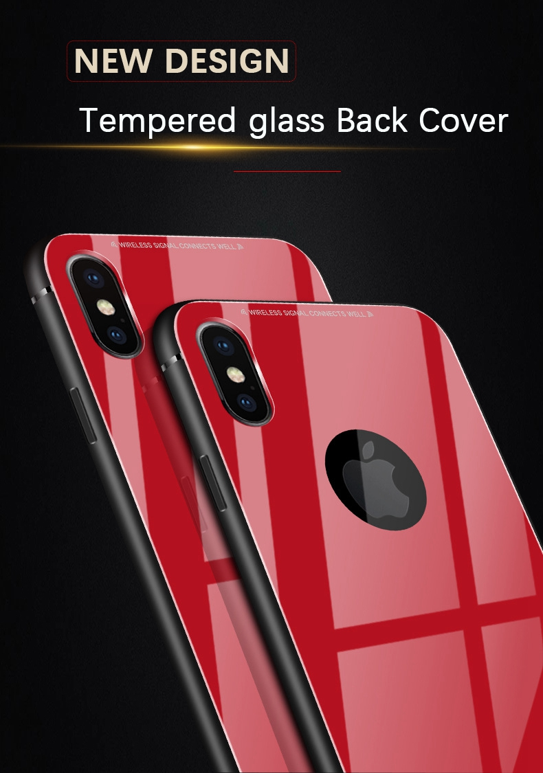 Bakeey™ Tempered Glass Mirror Back TPU Frame Protective Case for iPhone X/7/8 7Plus/8Plus 6/6s Plus
