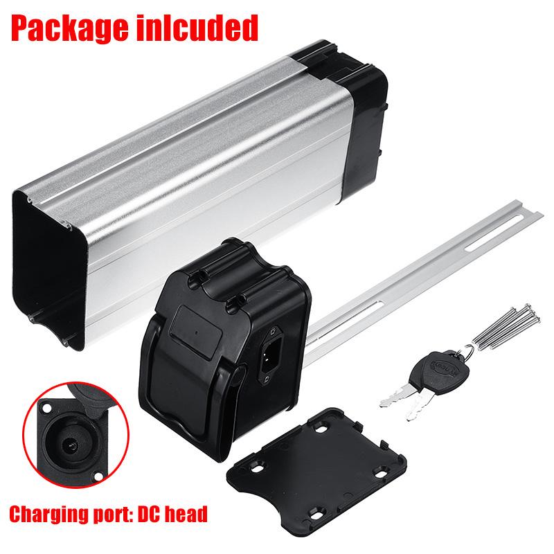 BIKIGHT Electric Battery Box Case 385x110x76mm E-bike Box Holder For 18650 36V 48V Lithium Battery
