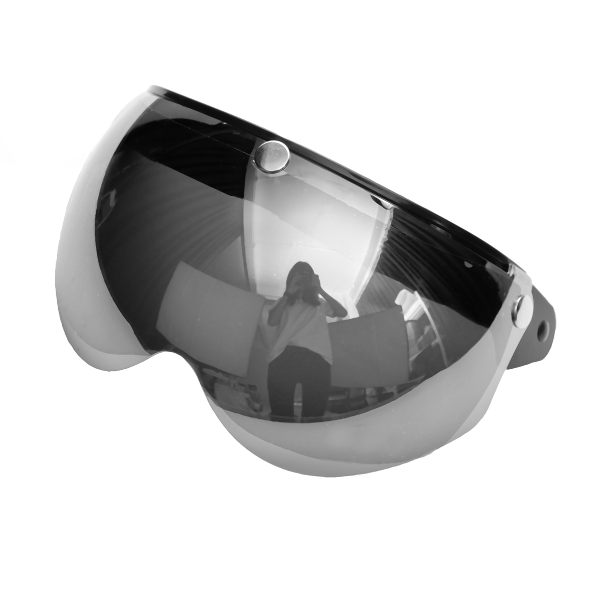 3 Snap Button Pilot-Style Universal Motorcycle Helmet Lens Shield Wind Visor
