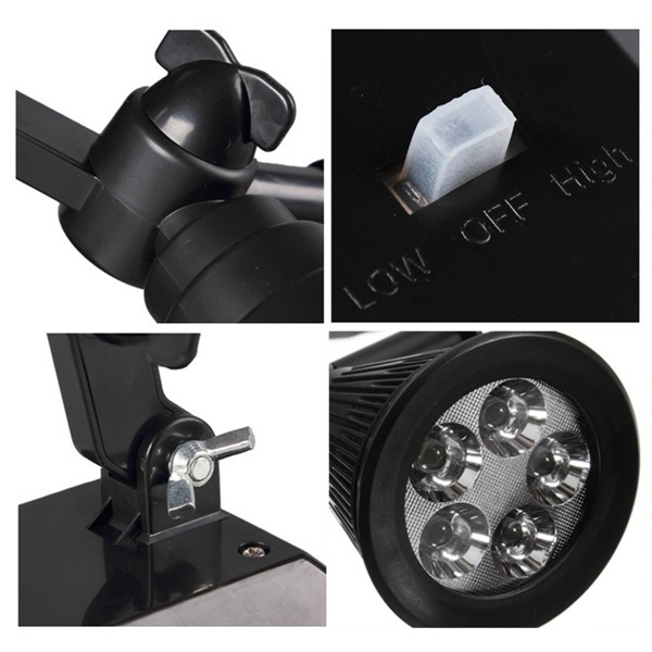 Solar Power 5 LED Garden Lamp Spotlight Outdoor Lawn Landscape Waterproof Light