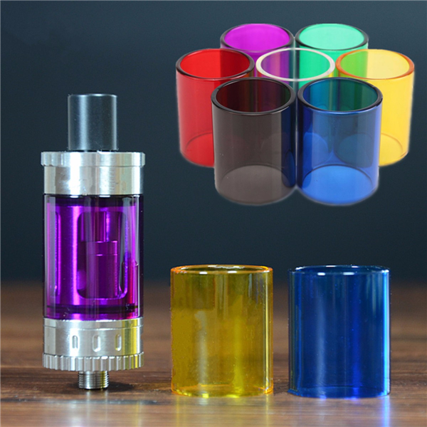 Transparent Pyrex Glass Tank Tube Cap Storage Container For Top Tank Mini Mod Atomizer