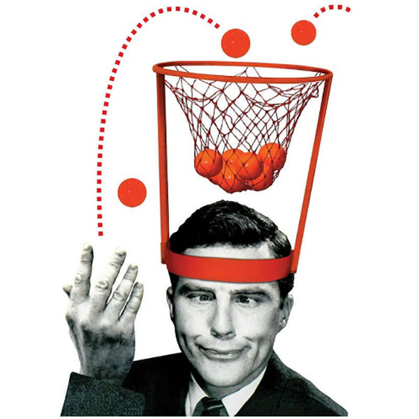 Head Basketball Hoop Game Circle Shot Plastic Basket Pa