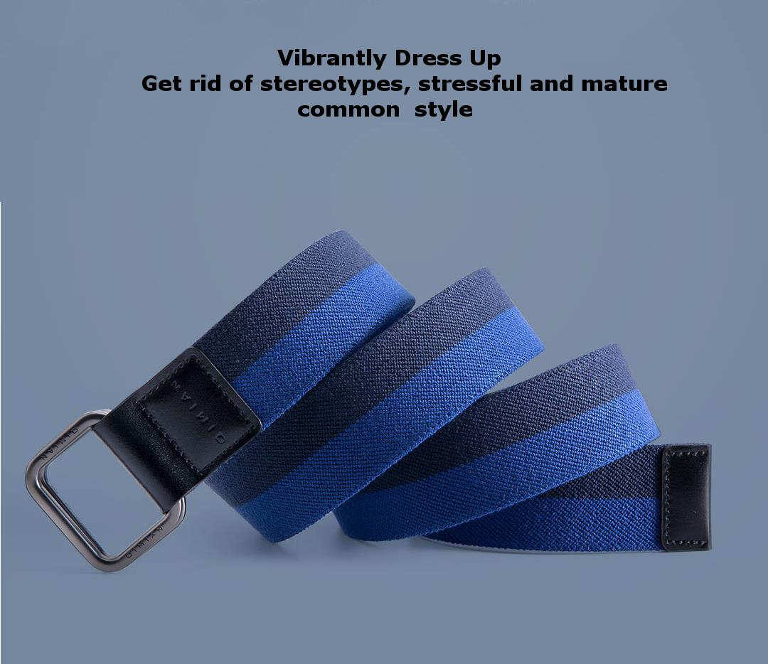 XIAOMI 110-130cm 3.8cm Width Quick Release Buckle Elastic Fabric Sports Leisure Tactical Belt