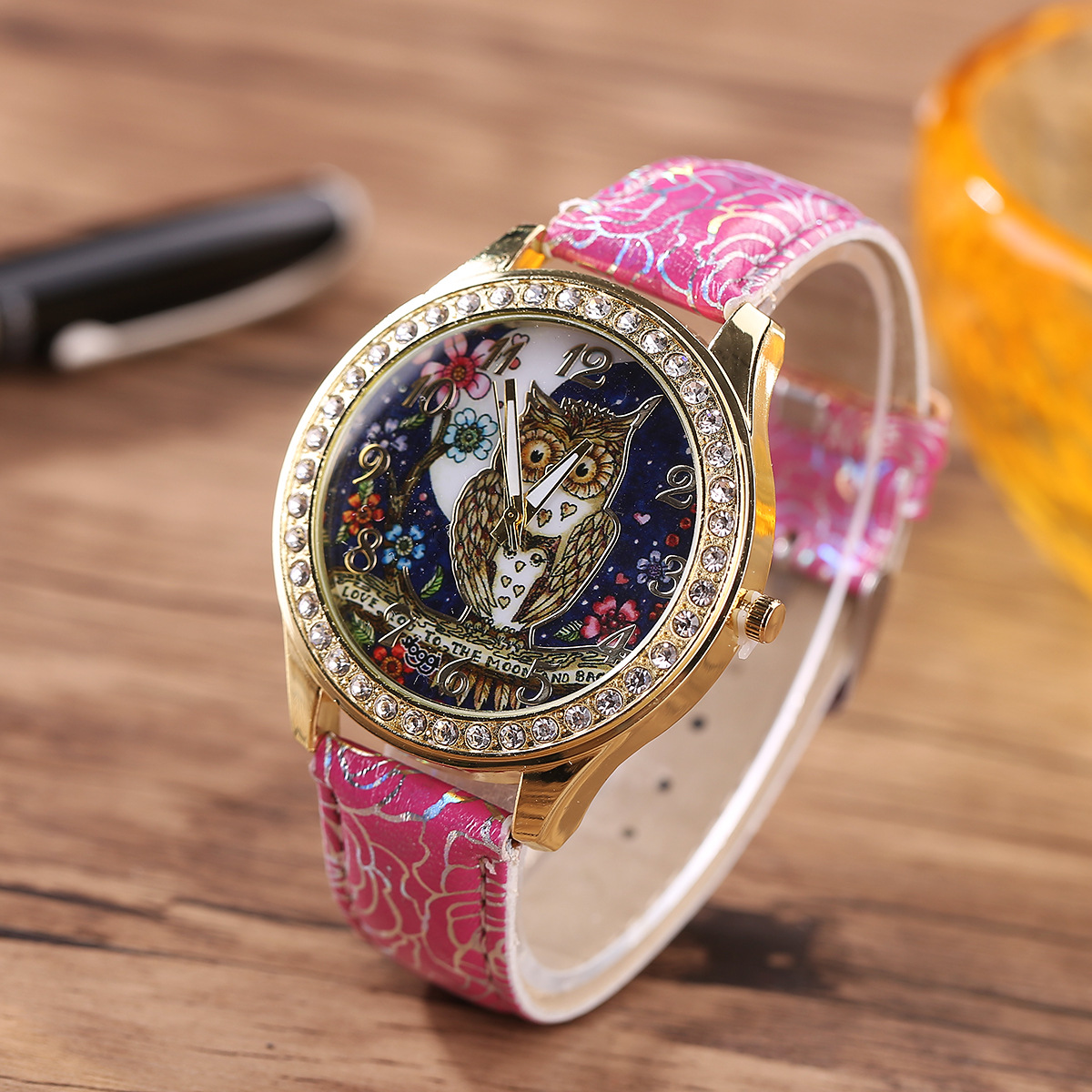 Cartoon Owl Women Quartz Watch
