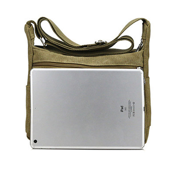 Men's Canvas Leisuie Crossbody Bag Outdoor Sports Hiking Pack ipad Packet