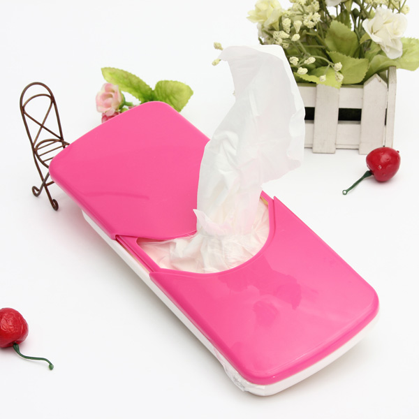 ABS Tissue Box Cover Holder With Clip For Accessories Car Sun Visor Paper Napkin