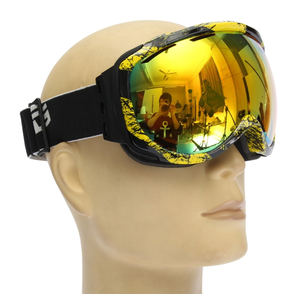 Unisex Anti Fog UV Dual Lens Winter Racing Outdooors Snowboard Ski Goggles Sun Glassess CRG98-5A