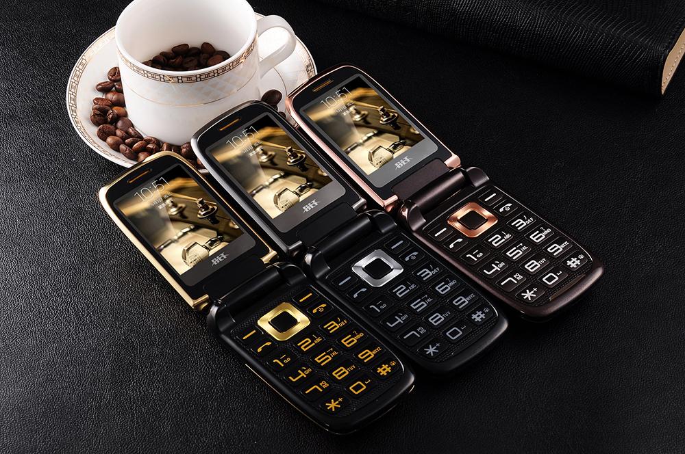 BLT V998 2.6'' 2000mAh Dual Touch Screen Dual SIM Magic Voice Flip Feature Phone