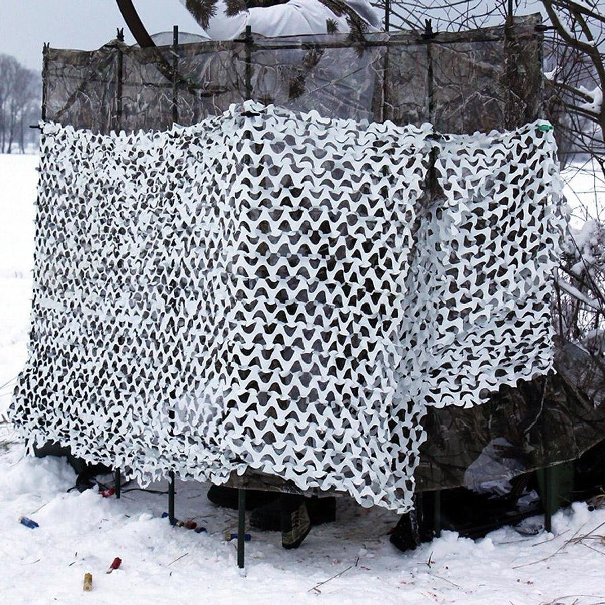 White Snow Camouflage Net Camping Garden Party Decor Photography Camo Tent Cover Sunshade Net