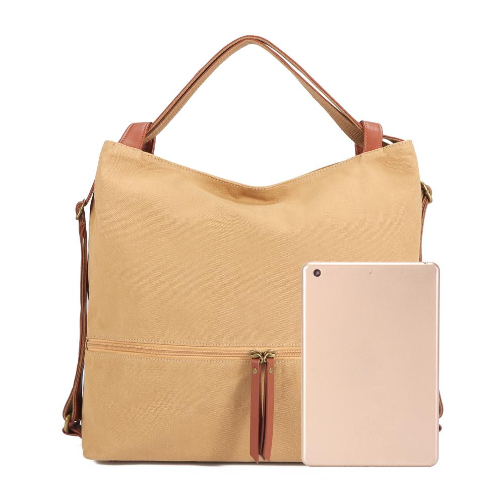 Brenice Women Canvas Shoulder Bag Handbag Backpack