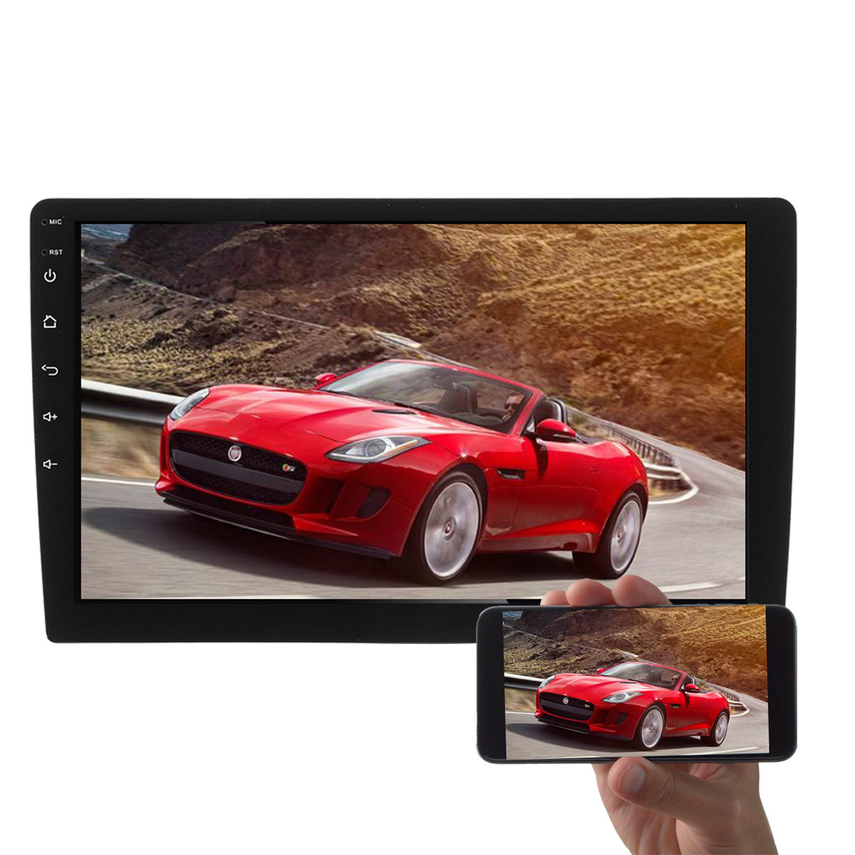 Купить со скидкой 10 Inch Android 1080P Car MP5 Player GPS 2G+32G Stereo Radio 4G 2Din OBD Mirror Link