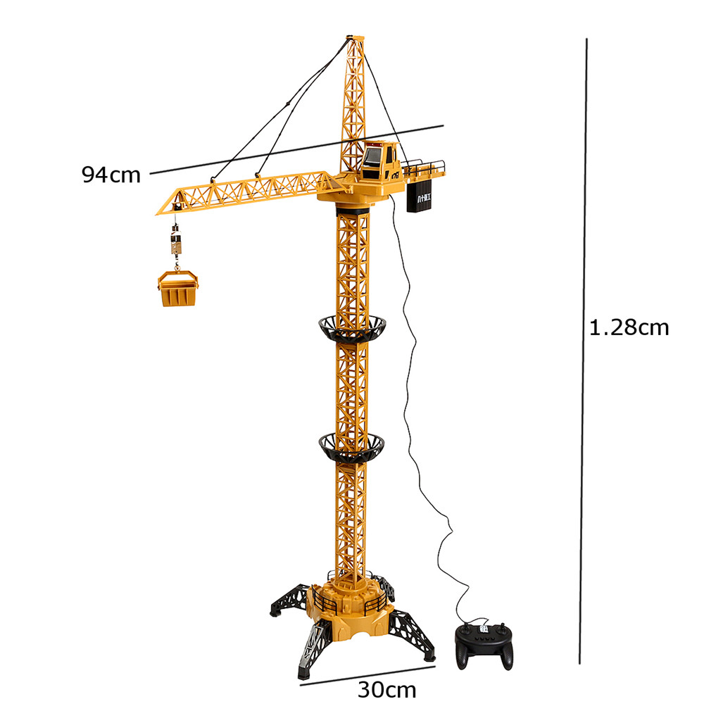 91113 128CM 4CH Electric Remote Control Rc Crane Toy High Rise Tower Construction Engineering Truck