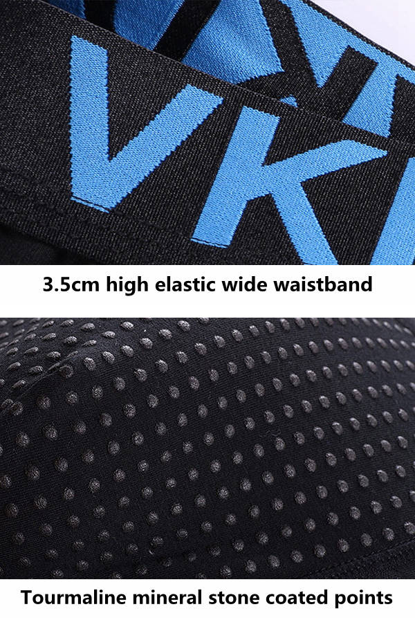 Mens Magnetic Anti-bacterial Breathable Traceless Modal Health Boxers Underwear