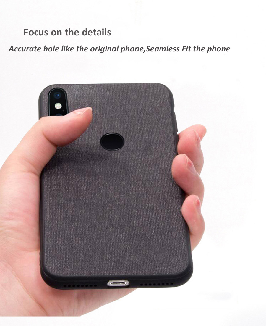 Bakeey Luxury Fabric PC Back + Soft TPU Bumper Protective Case for Xiaomi Redmi S2/ Redmi Y2